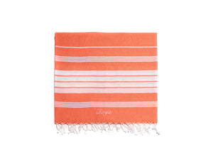 Cotton Peshtemal Birgie Minimal- Orange - Birgie Home