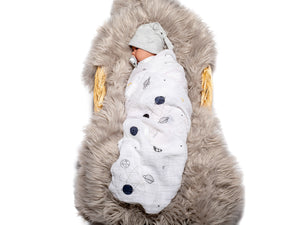 Muslin Swaddling Breathable Multi Use Blanket- Planetary - Birgie Home