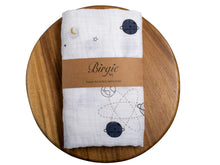 Load image into Gallery viewer, Muslin Swaddling Breathable Multi Use Blanket- Planetary - Birgie Home