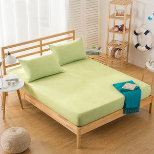 Cotton Fitted Sheet - Green | 100x200 cm - 160x200 cm - Birgie Home