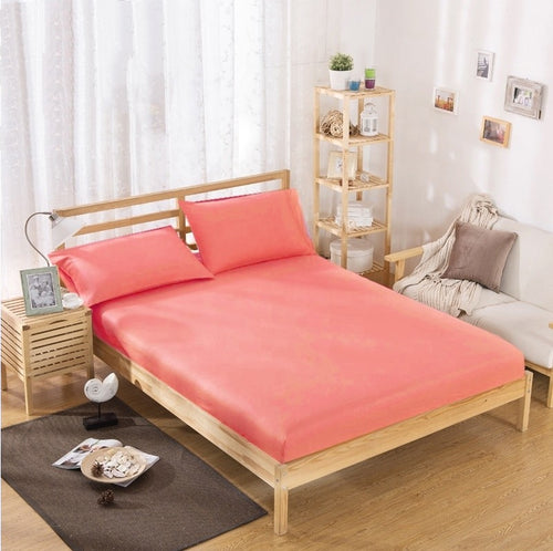 Cotton Fitted Sheet - Coral | 100x200 cm - 160x200 cm - Birgie Home