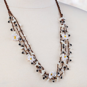 Handmade Traditional Birgi Necklace with Natural Mother of Pearl - Birgie Home