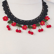Load image into Gallery viewer, Handmade Traditional Birgi Necklace with Crochet Lace Red - Birgie Home