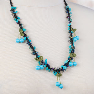 Handmade Traditional Birgi Necklace with Natural Turquoise - Birgie Home