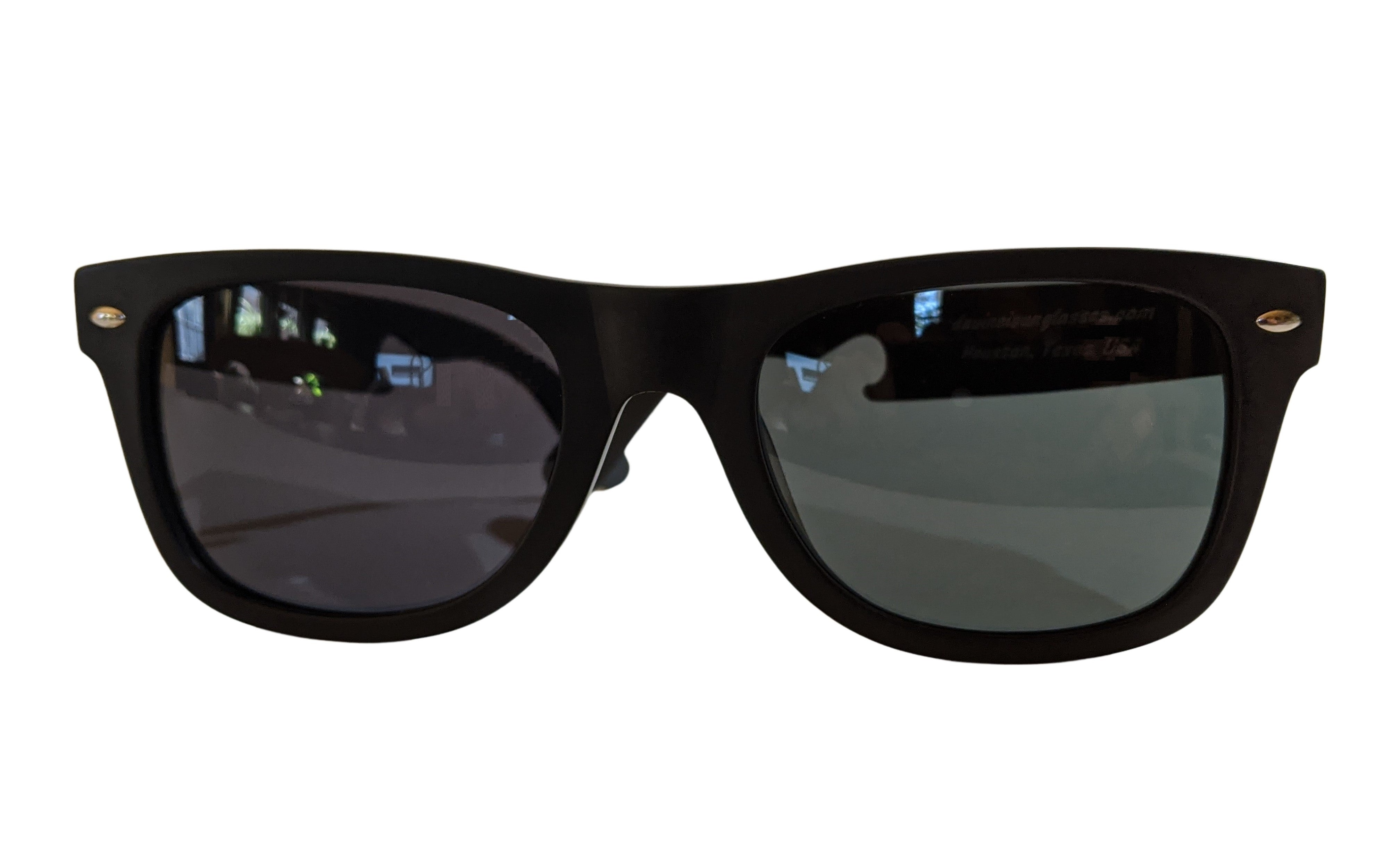 "Our Classic Retro-Style Sunglasses Feature Armor-Coated Titanium ""Bottle Opener""-Style Temples and Acetate Frames That Can Be Fitted For Prescription Lenses. They Are Extremely Light Weight and Are Very Comfortable, Whether Worn Over Your Eyes or on Top of Your Head"