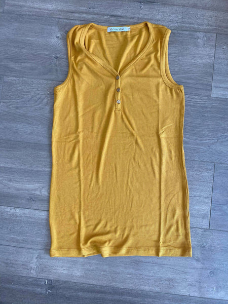 IN STOCK Addison Henley Tank - Mustard