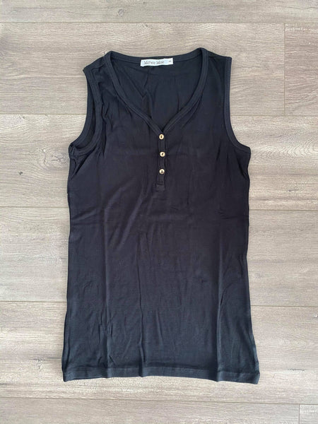 IN STOCK Addison Henley Tank - Black