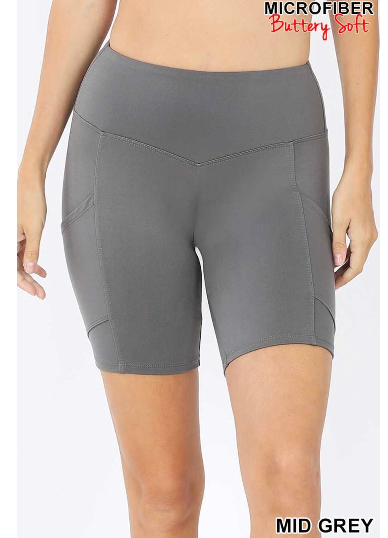 Grey Bike Shorts