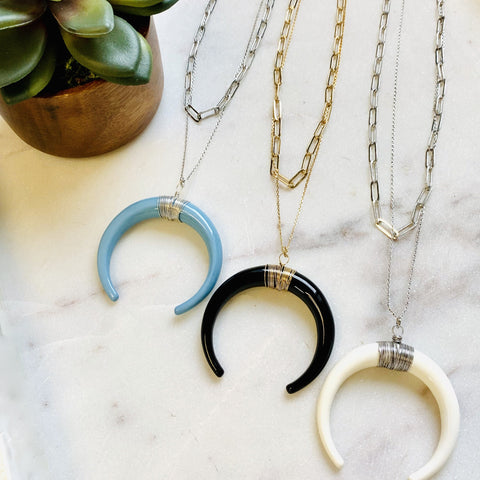 Colored Horn Necklace