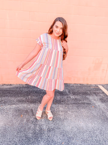 Multi Color Striped Dress
