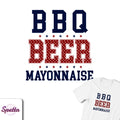 BBQ, Beer, Mayonnaise Tee