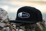Pines to Palms 7 Panel Hat - Black