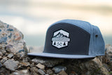 Rad Mountains 7 Panel Hat - Gray