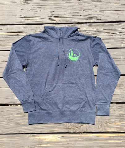 Pines to Palms Circle Lightweight Hooded Pullover - Navy Heather