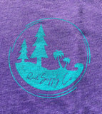 Pines To Palms Circle - Purple Triblend
