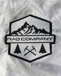 Rad Mountains Lightweight Crop Windbreaker - Snow Camo