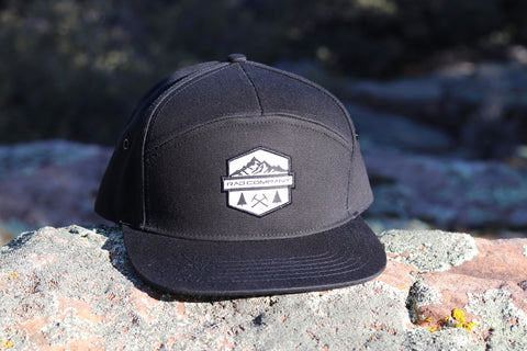 Rad Mountains 7 Panel Hat - Black