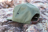 Pines to Palms Circle 7 Panel Hat - Olive Green