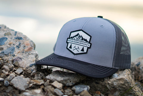 Rad Mountains Snapback Hat - Gray