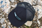 Pines to Palms Snapback Hat - Black