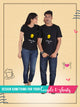 Fully Customised T-Shirts for Couple  (Including Customisation Charges)