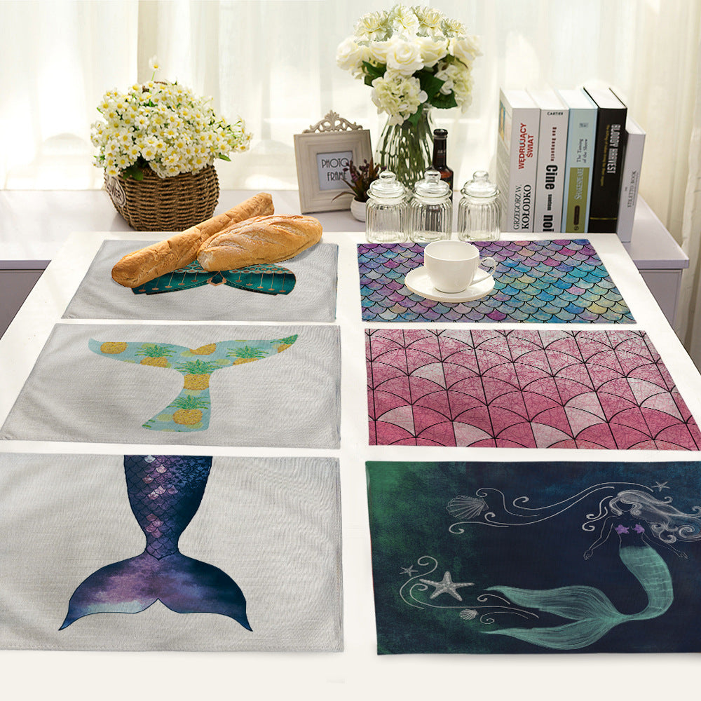 Deep Sea Mermaid Handmade Placemats