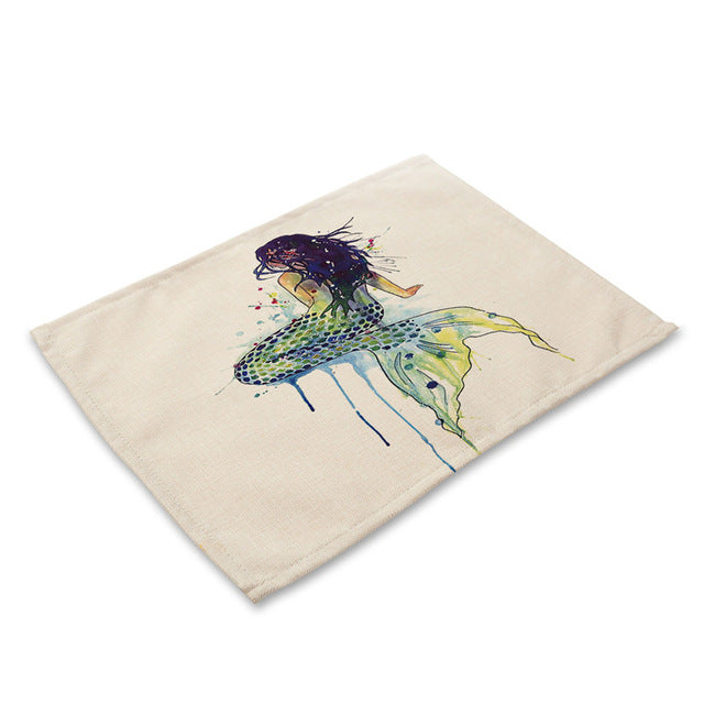 Eco-Friendly Sea Mermaid Handmade Placemats
