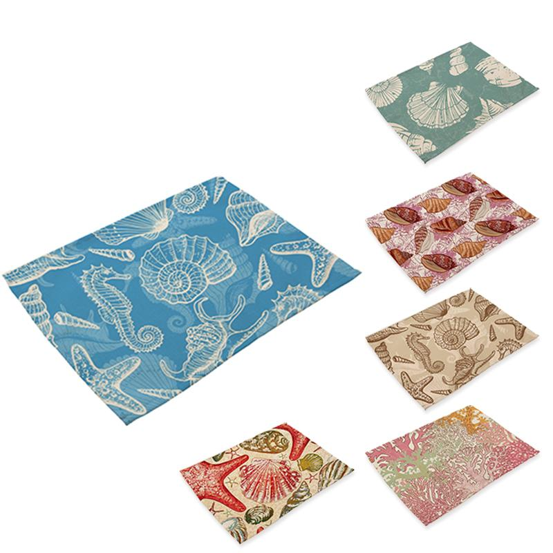 Coastal Linen Beach-Themed Placemats