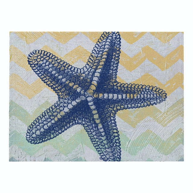 Handmade Sea Animal Placemats - Turtle, Seahorse, Octopus, Marlin & More
