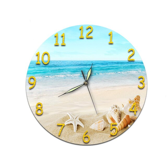 Beach and Ocean-Themed Wall Clocks