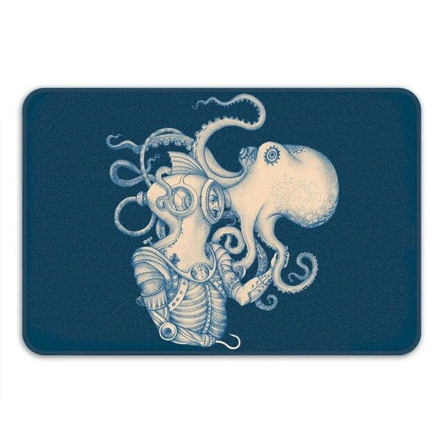 Steampunk Octopus Doormat