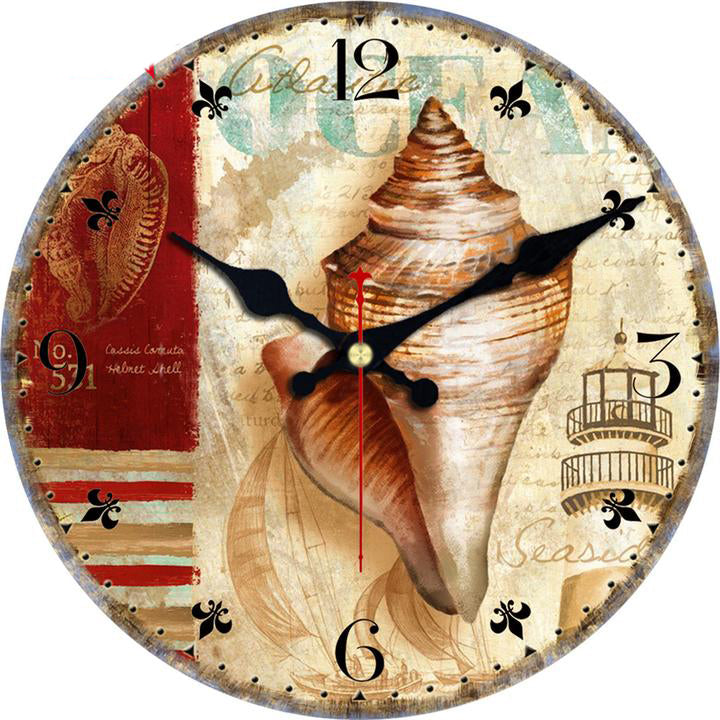 Vintage Beach Wooden Clocks