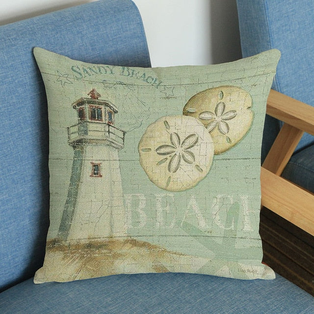 Sandy Beach Pillow Cover