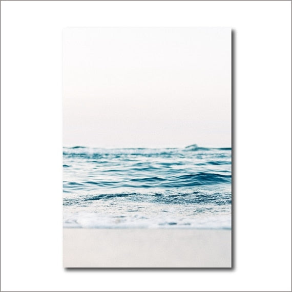 Coastal Decor Beach Photography Canvas Prints