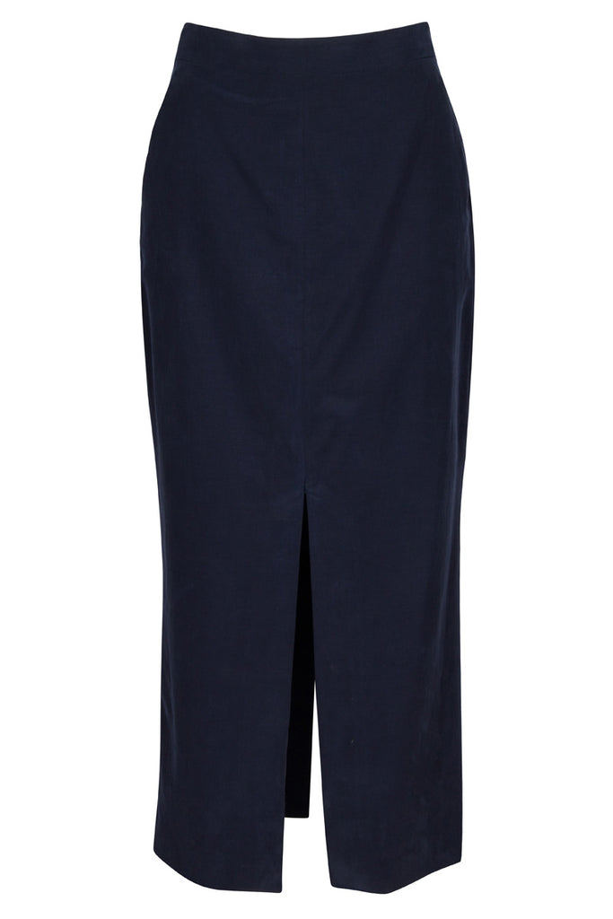 Westwood skirt in navy cupro cotton