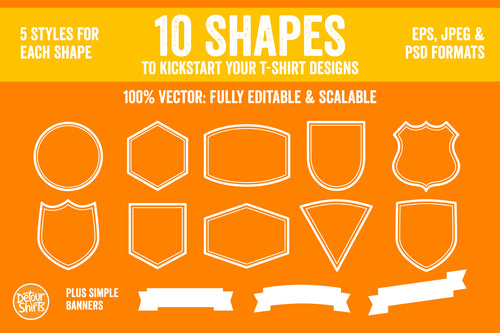 10 Shapes for T-Shirt Designs