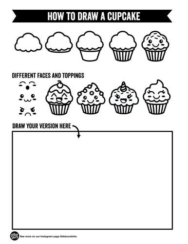 How To Draw A Cupcake Print Out