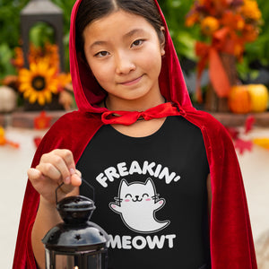 Freakin Meowt Kawaii Cat Ghost Shirt