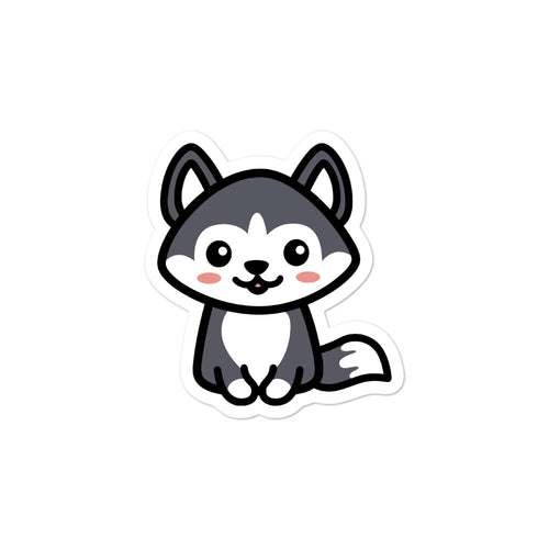 Cute Kawaii Husky Dog Lovers Stickers