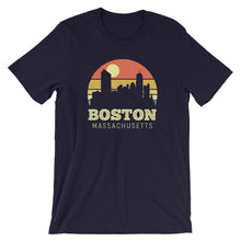 Load image into Gallery viewer, Boston Massachusetts Vintage Sunset Retro City T-Shirt