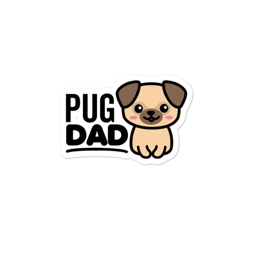 Pug Dad Dog Lovers Stickers