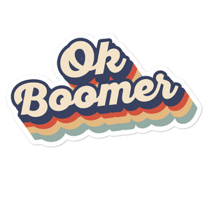 Vintage Retro Ok Boomer Stickers
