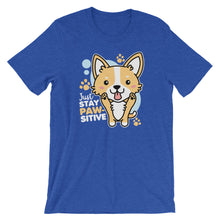 Load image into Gallery viewer, Just Stay Pawsitive Kawaii Corgi T-Shirt