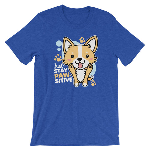 Just Stay Pawsitive Kawaii Corgi T-Shirt