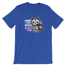 Load image into Gallery viewer, Here to Steal Hearts Racoon Valentine's Day T-Shirt