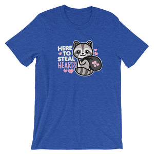 Here to Steal Hearts Racoon Valentine's Day T-Shirt