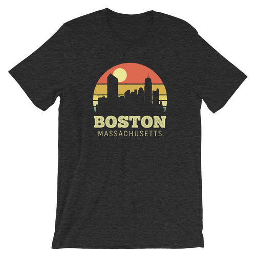 Boston Massachusetts Vintage Sunset Retro City T-Shirt
