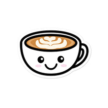 Load image into Gallery viewer, Cute Kawaii Coffee Lovers Latte Mug Stickers