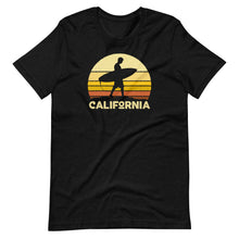Load image into Gallery viewer, California Vintage Sunset Surfer T-Shirt