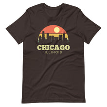 Load image into Gallery viewer, Chicago Illinois Vintage Sunset City T-Shirt